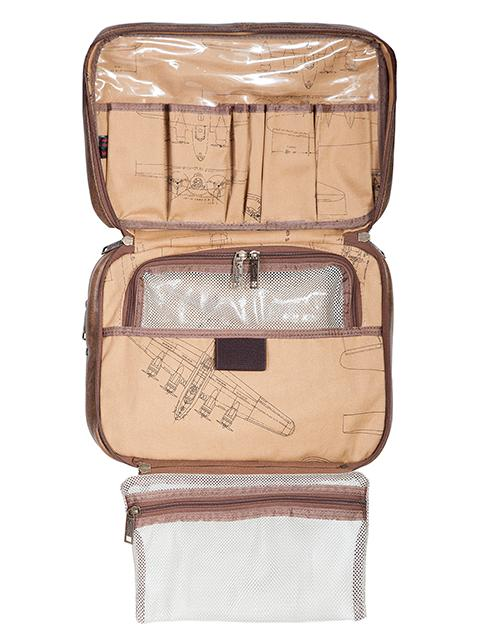 Scully Luggage Leather: 81st Aero Squadron Airborne Collection Travel Kit