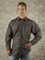 B Rockmount Ranch Wear Men's Western Shirt: Chambray Black 2XL Backorder