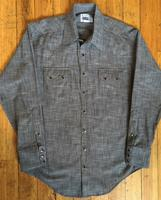 Rockmount Ranch Wear Men's Western Shirt: Chambray Cross Hatch Black S-XL