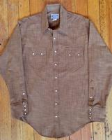 Rockmount Ranch Wear Men's Western Shirt: Chambray Cross Hatch Brown S-XL