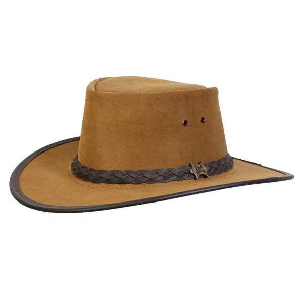 Conner Handmade Hats BC Hats: Leather Stockman Suede Khaki