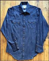 Rockmount Ranch Wear Men's Western Shirt: Denim Tencel S-XL