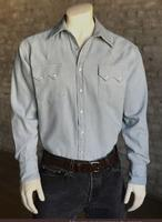 Rockmount Ranch Wear Men's Western Shirt: Denim Bleached Sky Backordered