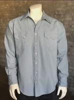 Rockmount Ranch Wear Men's Western Shirt: Denim Bleached Sky 2XL