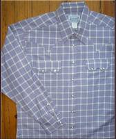 Rockmount Ranch Wear Men's Western Shirt: A Plaid Lavender 2XL