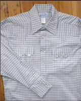 Rockmount Ranch Wear Men's Western Shirt: A Check Windowpane Plaid Tan 2XL