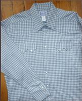 Rockmount Ranch Wear Men's Western Shirt: A Check Windowpane Plaid Blue 2XL