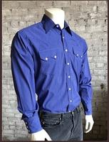 Rockmount Ranch Wear Men's Western Shirt: A Tattersall Blue 2XL