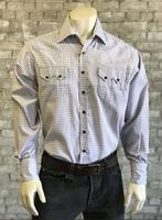 Rockmount Ranch Wear Men's Western Shirt: A Check Mini Grey White S-XL