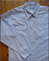 Rockmount Ranch Wear Men's Western Shirt: A Tattersall Blue S-XL