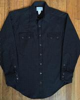Rockmount Ranch Wear Men's Western Shirt: A Check Windowpane Cotton Black S-2XL