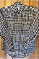 Rockmount Ranch Wear Men's Western Shirt: A Check Windowpane Tan Black S-XL