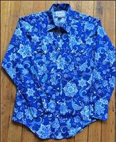 Rockmount Ranch Wear Men's Western Shirt: Print Floral Navy S-L