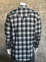 Rockmount Ranch Wear Men's Western Shirt: Winter Flannel Plaid Grey 2X Backorder