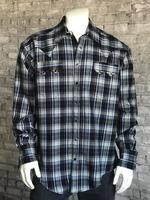 Rockmount Ranch Wear Men's Western Shirt: Winter Flannel Plaid Grey Backorder