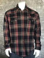 Rockmount Ranch Wear Men's Western Shirt: Winter Flannel Plaid Brown