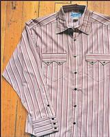 Rockmount Ranch Wear Men's Western Shirt: A Stripe Red S-2XL