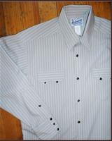 Rockmount Ranch Wear Men's Western Shirt: A Stripe Tone-On-Tone Grey 2XL