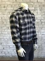 Rockmount Ranch Wear Men's Western Shirt: Winter Flannel Plaid Black Backordered
