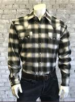 Rockmount Ranch Wear Men's Western Shirt: Winter Flannel Plaid Green
