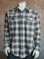 Rockmount Ranch Wear Men's Western Shirt: Winter Flannel Plaid Sage 2X Backorder