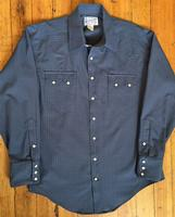 Rockmount Ranch Wear Men's Western Shirt: A Check Windowpane Cotton Navy S-L