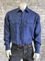 Rockmount Ranch Wear Men's Western Shirt: Linen Blue S-XL