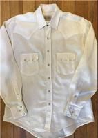 Rockmount Ranch Wear Men's Western Shirt: Linen White S-XL