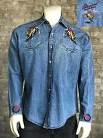 B Rockmount Ranch Wear Men's Vintage Western Shirt: Rockmount Bronc Denim Backorder