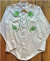 Rockmount Ranch Wear Men's Vintage Western Shirt: A Cannabis Cowboy Ivory XL