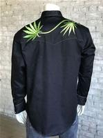 Rockmount Ranch Wear Men's Vintage Western Shirt: Cannabis Cowboy Black 2X