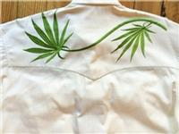 Rockmount Ranch Wear Men's Vintage Western Shirt: A Cannabis Cowboy Ivory 2XL Back Ordered