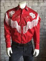 Rockmount Ranch Wear Men's Vintage Western Shirt: Fancy Fringe Red Backordered