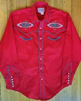 Rockmount Ranch Wear Men's Vintage Western Shirt: A A Native American Inspired Design Red 2XL
