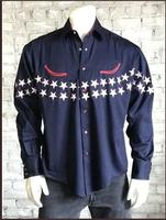 ZSold Rockmount Ranch Wear Men's Vintage Western Shirt: Americana Flag Navy SOLD