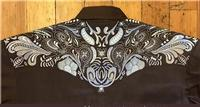 Rockmount Ranch Wear Men's Vintage Western Shirt: A A Two Tone Embroidery  Brown 2XL