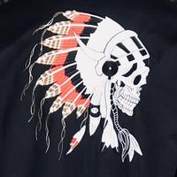 Rockmount Ranch Wear Men's Vintage Western Shirt: Chief's Skull Black