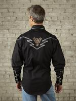 Rockmount Ranch Wear Men's Vintage Western Shirt: Eagle on Black 2X