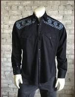 Rockmount Ranch Wear Men's Vintage Western Shirt: A Native Crossroads Black S-XL