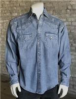 Rockmount Ranch Wear Men's Vintage Western Shirt: A Native Crossroads Denim S-XL