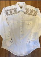 ZSold Rockmount Ranch Wear Men's Vintage Western Shirt: A A Native Crossroads Ivory 2XL