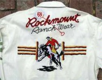 ZSold Rockmount Ranch Wear Men's Vintage Western Shirt: Signature Bronc Ivory Small SOLD