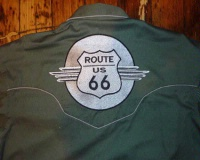 ZSold Rockmount Ranch Wear Men's Vintage Western Shirt: Route 66 Lives On Green 2X SOLD