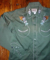 ZSold Rockmount Ranch Wear Men's Vintage Western Shirt: Route 66 Lives On Green S-XL SOLD