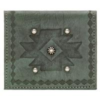 ZSold American West Handbag Wallet Collection: Leather Boyfriend Bi-Fold Wallet Turquoise SOLD