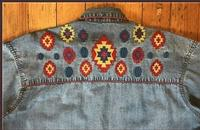 Rockmount Ranch Wear Men's Vintage Western Shirt: Denim Native Design 2XL