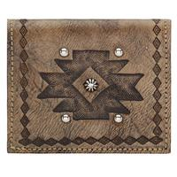 ZSold American West Handbag Wallet Collection: Leather Boyfriend Bi-Fold Wallet Distressed Charcoal Brown SOLD