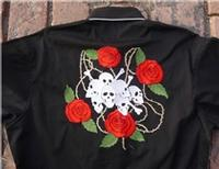 Rockmount Ranch Wear Men's Vintage Western Shirt: Fancy Skulls Lucky Seven 2X