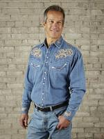 Rockmount Ranch Wear Men's Vintage Western Shirt: Floral on Denim 2X Backordered