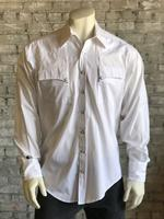 Rockmount Ranch Wear Men's Western Shirt: Quarter Horse Pockets White 2XL